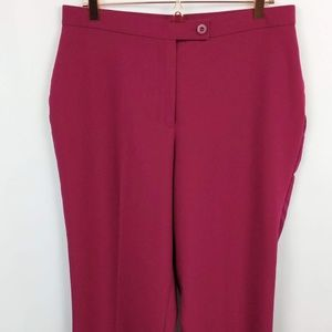 Kim Rogers 14 Short Fushia Pink Dress Pants